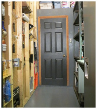 (Image: Paint Booth with Black Door Closed)