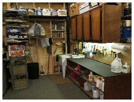 (Image: Wet Counter with Cupboards Above.